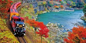Lihat Kyoto Sagano Romantic Train