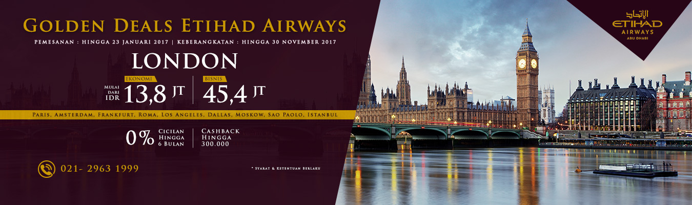 Etihad Airways Promo Januari 2017